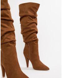 9548af9494d ASOS Charmed 70 s Knee High Boots in Blue - Lyst