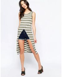 Wal-G - Striped Top With Asymmetric Hem - Lyst