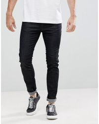 HUGO - 734 Stretch Jeans In Black - Lyst