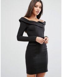 Lavish Alice - Off Shoulder Tailored Mini Dress - Lyst