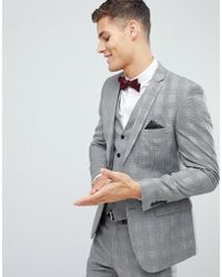 French Connection - Skinny Suit Jacket In Pow Check - Lyst