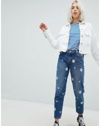 Pull&Bear - Beauty And The Beast Mom Jeans - Lyst