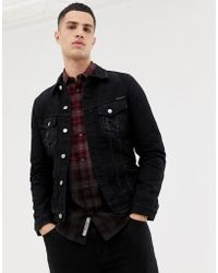 Nudie Jeans Co Billy Denim Jacket Washed Black