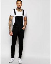 Dr. Denim - Ira Skinny Overall Jeans In Black - Lyst
