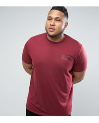Defend London - T-shirt In Burgundy With Logo Exclusive To Asos - Lyst