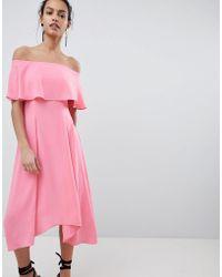 Coast - Bonnie Bardot Midi Dress - Lyst