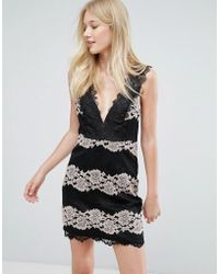 Liquorish - Lace Panel Dress - Lyst