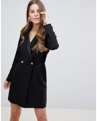 ASOS - Tux Mini Dress With Gold Buttons - Lyst