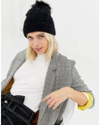 d9c2eac3ab3 New Look - Faux Fur Pom Pom Bobble Hat - Lyst