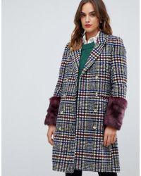 Y.A.S Heritage Fur Trimmed Coat