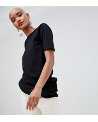 River Island - Oversized T-shirt In Black - Lyst
