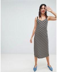 Stradivarius - Diagonal Stripe Dress - Lyst