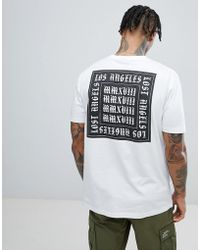 ASOS - Relaxed T-shirt In White With Los Angeles Back Print - Lyst