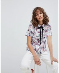 Suncoo - Shirt In Printed Broderie - Lyst