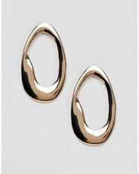 New Look - Abstract Over-sized Hoop Earrings - Lyst