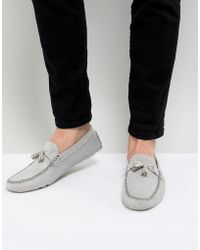 Ted Baker - Erbonn Suede Loafers In Light Grey - Lyst