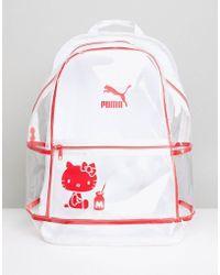 PUMA - X Hello Kitty Translucent Backpack - Lyst