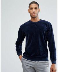 SELECTED - + Sweatshirt In Velour Jersey - Lyst