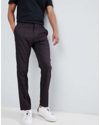 SELECTED - Slim Suit Pant In Check - Lyst