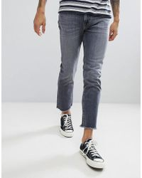 Lee Jeans - Slim Rider Jeans With Fray Hem - Lyst