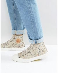 Pro Keds - Hi Top Speckled Felt Trainers - Lyst