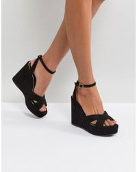 Miss Kg - Strappy High Wedge Sandal - Lyst
