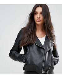 ASOS - Asos Design Tall Ultimate Leather Look Biker Jacket - Lyst