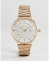 Paul Smith - Ps0070002 Petit Track Mesh Watch In Gold 38mm - Lyst