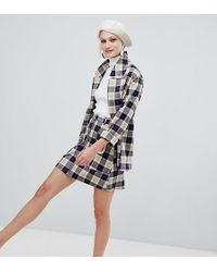 5c65eee181 Monki Gingham Midi Skirt - Lyst