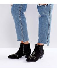New Look - Studded Western Ankle Boot - Lyst