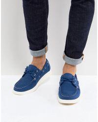 Eastland - Popham Two Eye Boat Shoe In Blue - Lyst