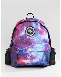 Hype - Backpack With Bottle In Space Print - Lyst