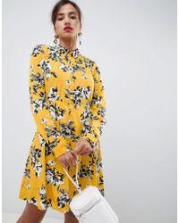 Vila - Long Sleeved Shirt Dress - Lyst