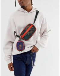 ASOS - Fanny Pack With Multi Pockets In Multi Print - Lyst