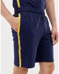 Tommy Hilfiger - Sweat Shorts With Contrast Taping In Navy - Lyst