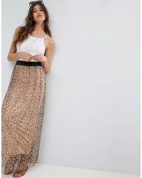 ASOS - Mesh Maxi Skirt In Animal Print - Lyst