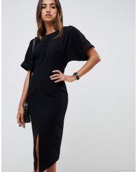 ASOS - wiggle Midi Dress - Lyst