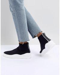 Bronx - Black Sock Sneakers - Lyst