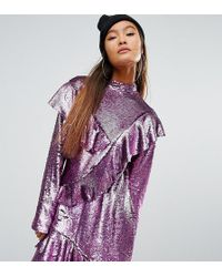 Mad But Magic - Sequin Dress With Frills - Lyst