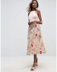 ASOS - Embellished Tulle Prom Midi Skirt - Lyst