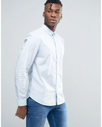 Bellfield - Shirt In Washed Cotton In Regular Fit - Lyst