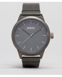 Breda - Rand Grey Leather Watch - Lyst