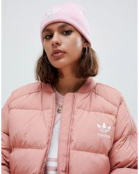 adidas Originals - Embroidered Logo Beanie In Pink - Lyst