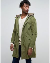 Pretty Green - Winchester Parka In Oversized Fit Green - Lyst
