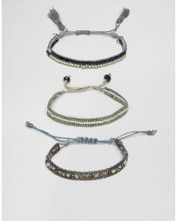 Ashiana - Multi-pack Beaded And Tassel Bracelets - Lyst