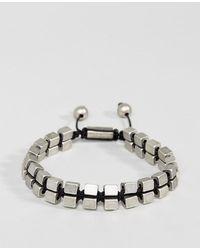 Steve Madden - Cube Bead Bracelet - Lyst