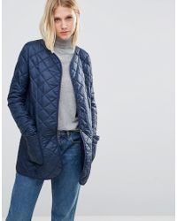 Cooper & Stollbrand - Quilted Bomber Jacket In Navy - Lyst