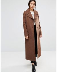 Cooper & Stollbrand - Long Line Wool Trench In Camel - Lyst