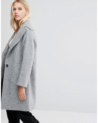 Cooper & Stollbrand - Drop Break Coat In Grey - Lgm - Lyst