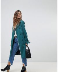 Miss Selfridge - Longerline Trench - Lyst